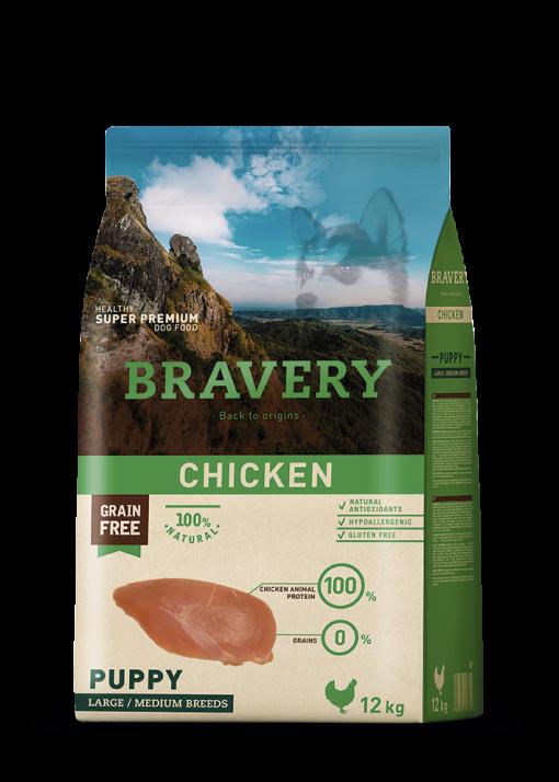 BRAVERY-Pollo para cachorros